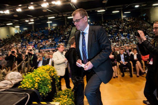 Sipilä keskustan puoluekokouksessa vuonna 2012.