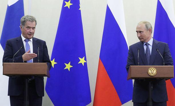 Sauli Niinistö ja Vladimir Putin tapasivat Sotshissa keskiviikkona.