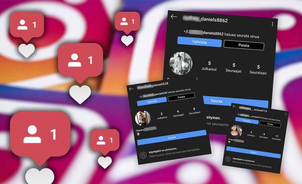 Oletko saanut Instagram-tilillesi merkillisiä seuraajia tai seurauspyyntöjä?