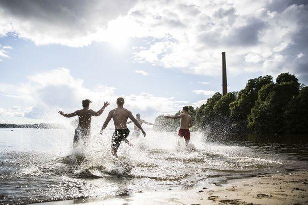 Kesän 2017 lämpöennätys tehtiin Pohjois-Suomessa Utsjoen Kevolla. Kuva Tampereelta viime viikon perjantailta.
