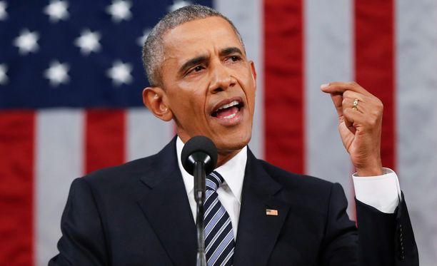 Yhdysvaltain presidentti Barack Obama.