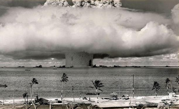 Yhdysvallat testasi ydinaseitaan Bikinin atollilla kylmän sodan aikana.