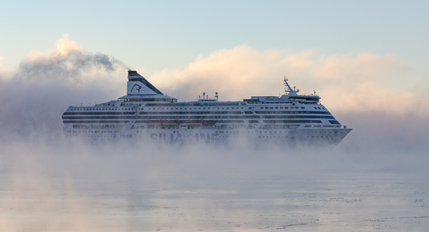 Kovakaan myrsky ei hetkauta isoja matkustajalaivoja. Kuvituskuva.