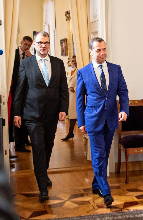 Sipilä ja Medvedev tapaavat Smolnassa.