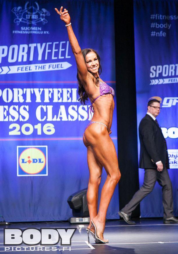 Hanna Skyttä loisti San Marinossa. Kuva kevään 2016 Fitness Classicista.