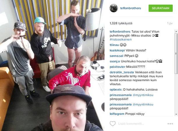 Kuvakaappaus Teflon Brothersin Instagram-sivulta.