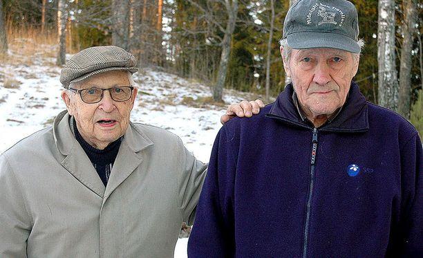 Urheilusankarit kohtasivat helmikuisessa Salon Perniöntiellä: Ilmari Koppinen ja Jouko Knaapi.