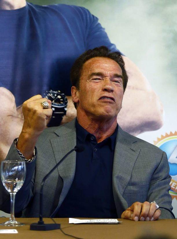 Schwarzenegger kuvattiin Madridissa viime perjantaina nimeään kantavilla Arnold Classic Europe -kehonrakennusfestivaaleilla.