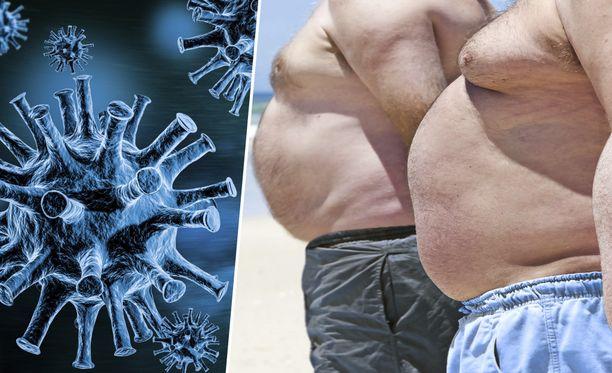 Tutkimuksessa kuolemanriski kasvoi koronavirukseen sairastuneilla henkilöillä, joiden painoindeksi oli yli 28.