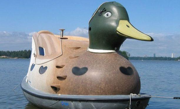 Fin-Duck on sorsan näköinen venesauna.