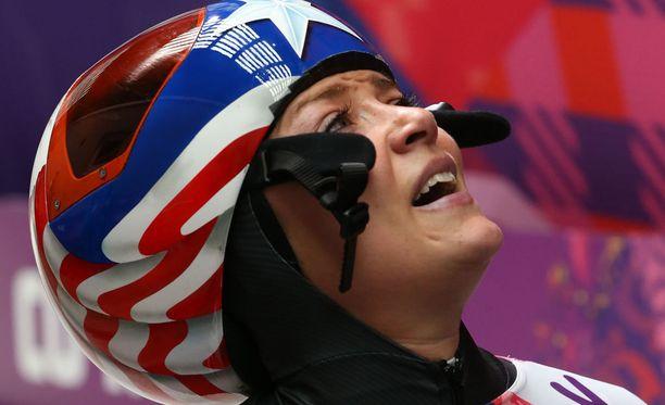 Katie Uhlaender pettyi Sotshissa, kun hän näki jääneensä neljän sadasosan päähän olympiamitalista.