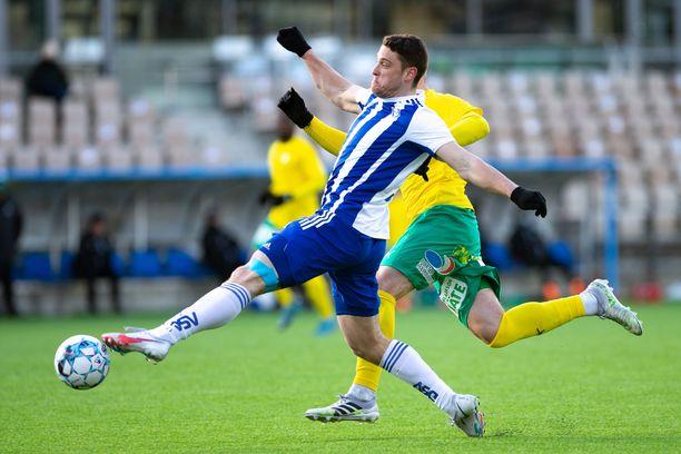 Filip Valencic palasi HJK:n riveihin.