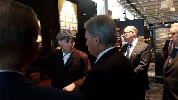 Niinistö vieraili Tampereella sisällissodan juhlavuoden kunniaksi.