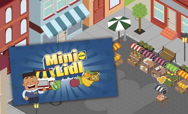 Mini Lidl -pelissä rakennetaan omaa myymälää.