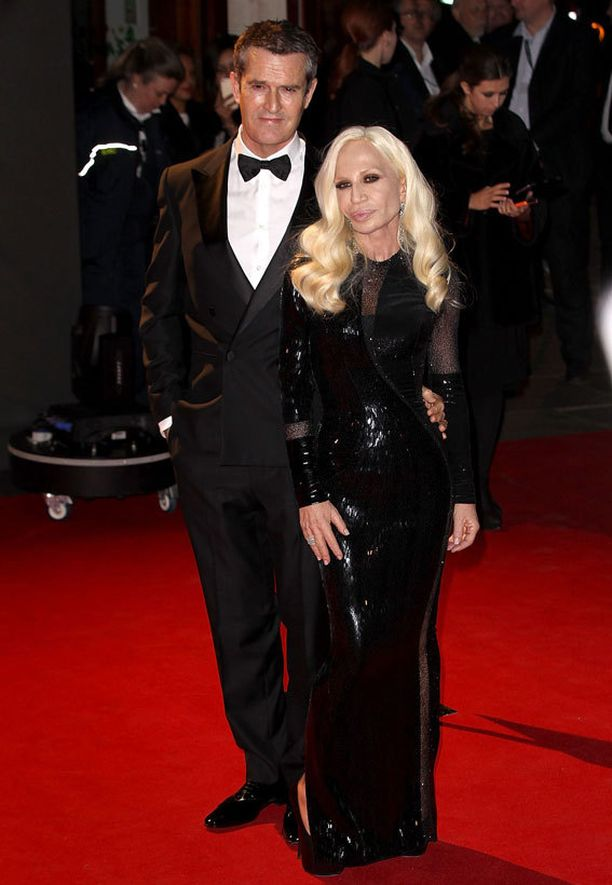 Rupert Everett ja Donatella Versace.