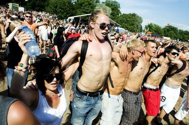 Kelien puolesta myös ensi viikon Down by the laiturissa voi näyttää tältä. Kuva Ruisrockista vuodelta 2011.