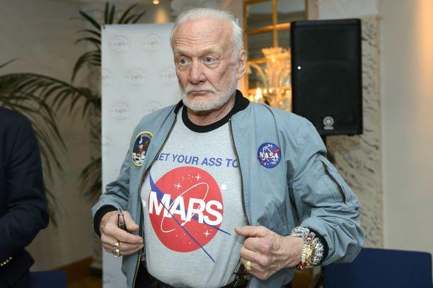 Buzz Aldrin on viime vuosina ollut miehitettyjen Mars-lentojen vahva puolestapuhuja.
