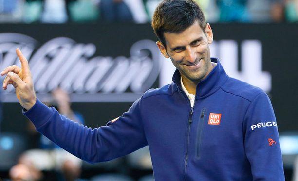 Novak Djokovicilla on huumorintajua.