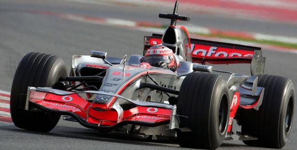 Heikki Kovalainen testasi keskiviikkona McLarenia Barcelonassa.