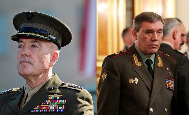 Yhdysvaltojen ja Venäjän sotilasjohtajat, Jospeh F- Dunfrod Jr. ja Valeri Gerasimov, tapaavat huomenna perjantaina Helsingissä.