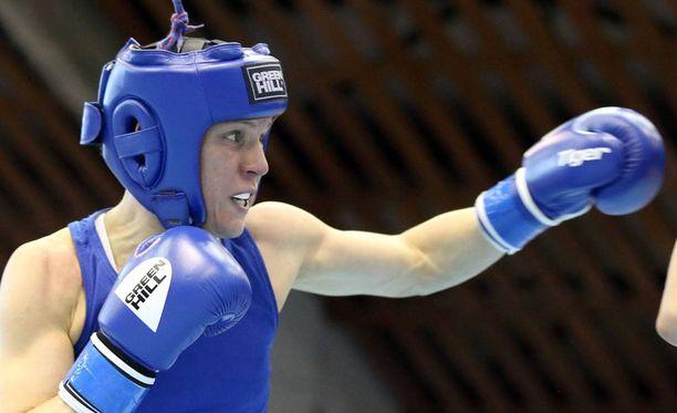 Mira Potkonen varmisti uransa neljännen arvokisamitalin. Kuva vuoden 2016 EM-kisoista.