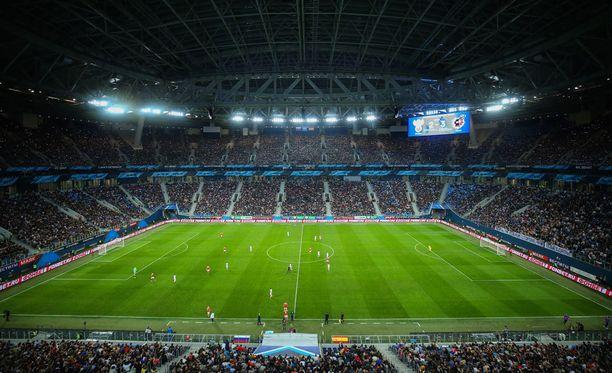 Pietarin stadionilla pelattiin viimeksi tiistaina, kun Venäjä kohtasi Espanjan. Ottelu päättyi 3-3.