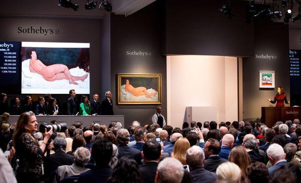 Sotheby's oli arvioinut maalauksen hinnaksi 150 miljoonaa.