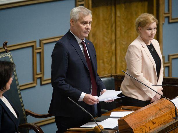 SDP:n puheenjohtaja Antti Rinne toimii eduskunnan tilapäisenä puhemiehenä siihen saakka kunnes hallitus on saatu muodostettua.