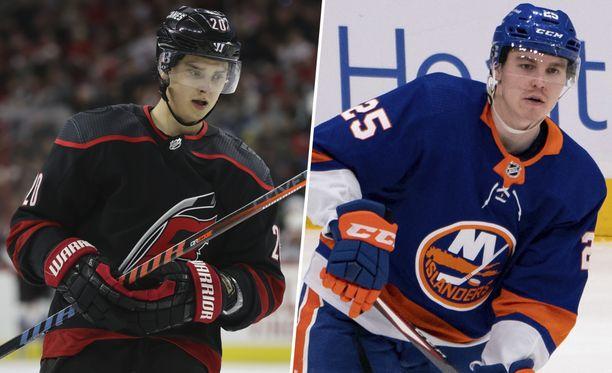 Carolina Hurricanesin Sebastian Aho ja New York Islandersin Sebastian Aho onnistuivat maalinteossa torstain kierroksella.