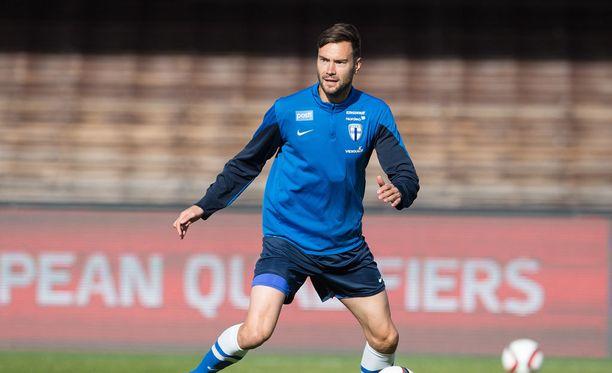 Tim Sparv on nimetty Huuhkajien kapteeniksi Puola-otteluun.