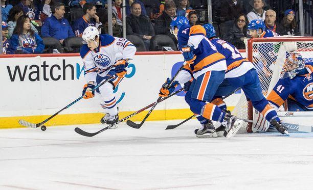 Jesse Puljujärvi on tehnyt 14 NHL-ottelussa tehot 1+2.
