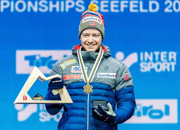 Sjur Röthe voitti Seefeldissä kolme MM-mitalia.