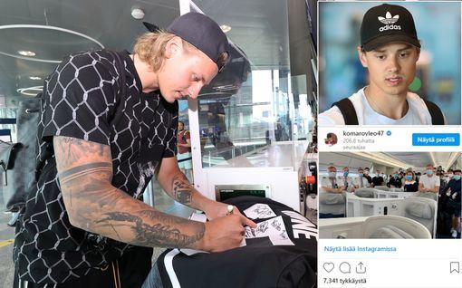 Kuvat: Suomen NHL-starat lensivät yksityislennolla New Yorkiin – upea ele lentoemännälle!
