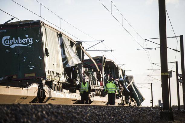 Onnettomuus sattui Ison-Beltin sillalla, joka yhdistää Fynin ja Själlannin saaret toisiinsa.