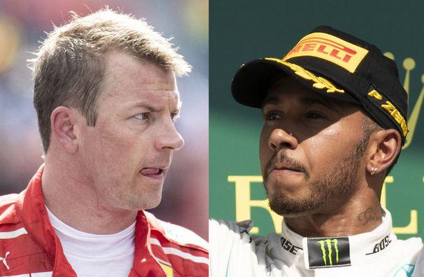 Lewis Hamilton viestitti, ettei syytä Kimi Räikköstä tahallisesta kolarista.
