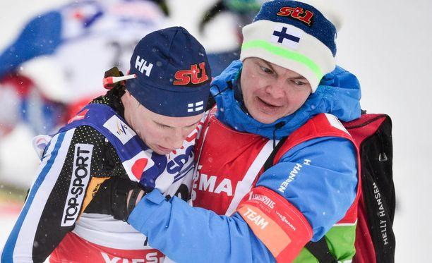 Matti Heikkinen oli aivan loppu Falunin päätösmatkan jälkeen.