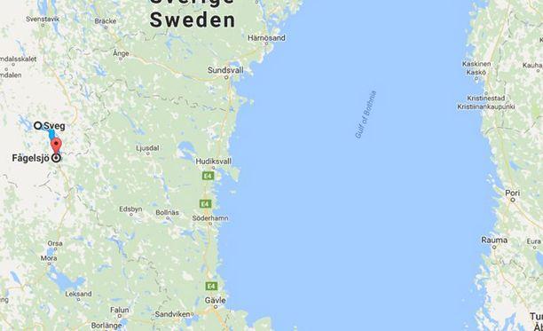 Onnettomuuspaikka on Keski-Ruotissa.
