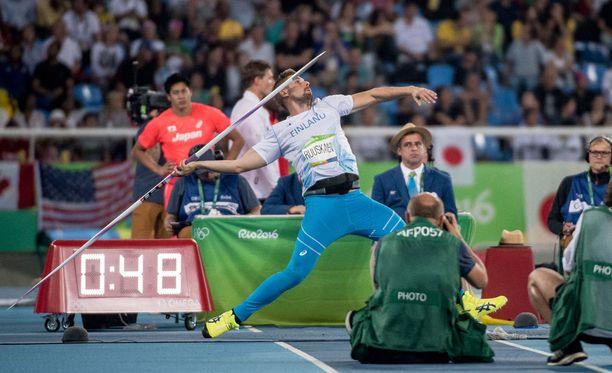 Antti Ruuskanen heitti Rion olympialaisissa kuudenneksi.
