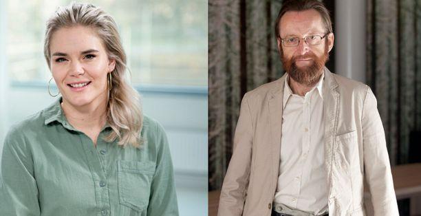 Osmo Kontula (oik.) ei ole samaa mieltä Marja Kihlströmin raportoimasta väitetystä asiattomasta käytöksestä.