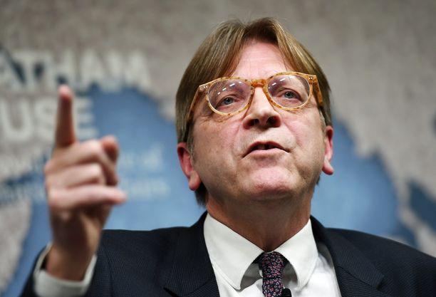 Guy Verhofstadt varoittaa EU:ta Donald Trumpista.