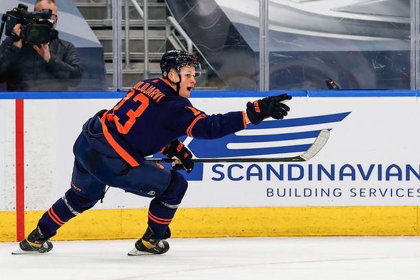 Jesse Puljujärvi on päässyt maalien makuun.