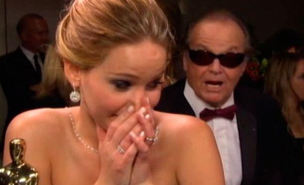 Jennifer Lawrencen ilmeet ja reaktiot ovat todella näkemisen arvoisia.