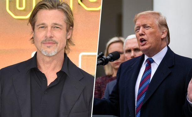 Näyttelijä Brad Pitt huvitti katsojia Saturday Night Live -ohjelmassa.