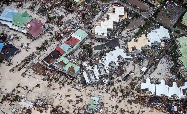 Tuuli puhalsi Saint-Martinilla noin 300 kilometriä tunnissa.