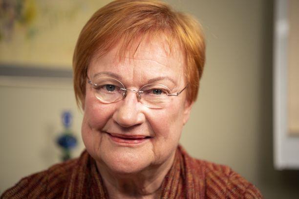 Presidentti Tarja Halonen. Arkistokuva lokakuulta 2019.