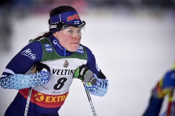 Krista Pärmäkoski ei tuloksellisesti ole päässyt viime vuosien tasolle näillä lumilla.