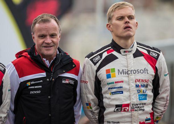 Tommi Mäkinen ja Ott Tänak työskentelvät alkavalla kaudella eri tiimeissä.