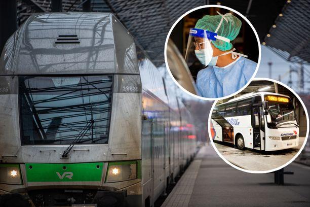 Kiinalaistutkimuksen mukaan kierrätetty sisäilma voi tartuttaa koronan linja-autossa. Suomalaisten liikennevälineiden edustajat eivät pidä todennäköisenä, että samaa tapahtuisi Suomessa.