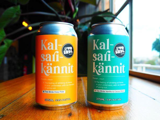 Näitä Kalsarikännit-oluita saa toistaiseksi vain Australiasta.