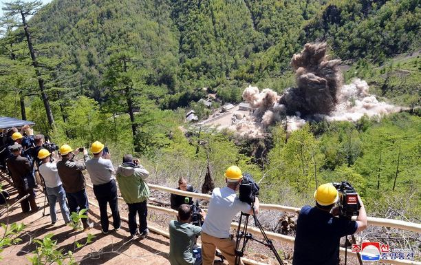 Pohjois-Korea ilmoitti aloittaneensa ydintestialueiden purkutyöt toukokuussa.